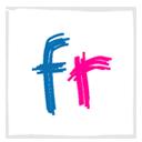 Flickr, White Icon
