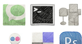 Free Hand Color Stroked Icons