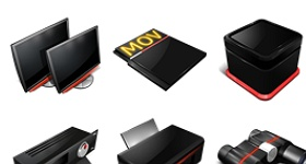 Professional Red Icons