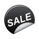 Black, Sale, Sticker Icon