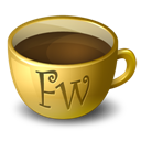 Coffee, Fireworks Icon