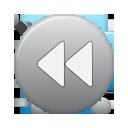 Button, Grey, Rew Icon