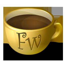 Coffee, Fireworks Icon
