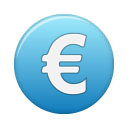 Blue, Currency, Euro Icon