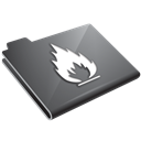 Flame, Grey Icon