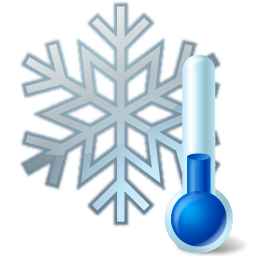 Snowflake, Thermometer Icon