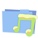 Blue, Folder, Music Icon