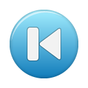 Blue, Button, First Icon