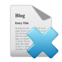 Blog, Delete Icon