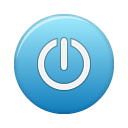 Blue, Power Icon