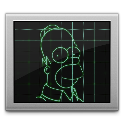 Activity, Monitor, Simpsons Icon