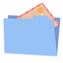 Alt, Blue, Folder, Mail Icon