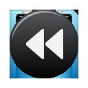 Black, Button, Rew Icon