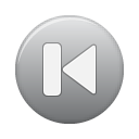 Button, First, Grey Icon