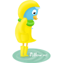Fall, Follow, Me, Raincoat Icon