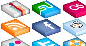 Isometrica Social Icons