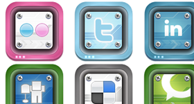 Social 2 Duo Icons
