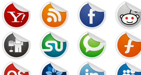 Socialize Icons Set Icons