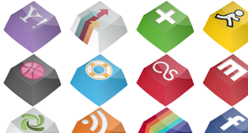 Social Keys Icon Pack Icons
