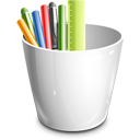Office, Pencil, Pot Icon
