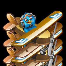 Boy, Flying, Twitter Icon
