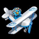 Blue, Boy, Flying, Twitter Icon