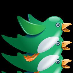 Birdie, Green, Twitter Icon