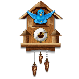 Clock, Twitter, Wall Icon