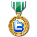 Green, Medal, Twitter Icon