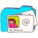 b, Contacts, Folder, Osd Icon
