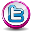Button, Pink, Twitter Icon