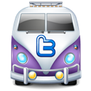 Purple, Twitter, Van Icon