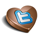 Chocolate, Heart, Twitter Icon