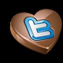 Chocolate, Heart, Twitter Icon