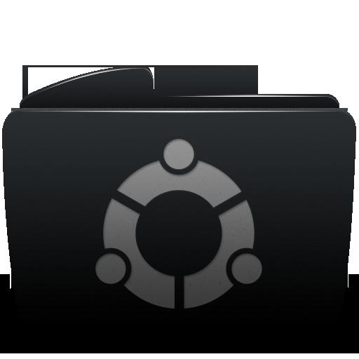 Black, Folder, Ubuntu Icon