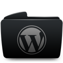 Black, Folder, Wordpress Icon