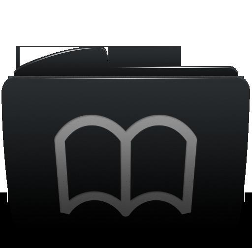 Black, Bookmarks, Folder Icon