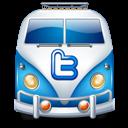 Blue, Twitter, Van Icon