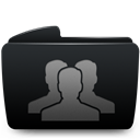 Black, Folder, Groups Icon
