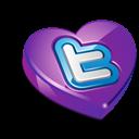 Heart, Purple, Twitter Icon