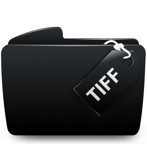 Black, Folder, Tiff Icon