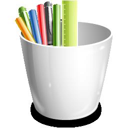 Office, Pencil, Pot Icon