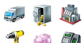 Vista Style Accounting Icons