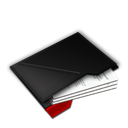 Documents, Inside, My, Red Icon