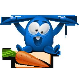 Blue, Rabbit Icon
