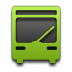 Bus, Green Icon