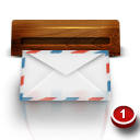 Mail, Wooden Icon