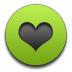 Green, Heart Icon
