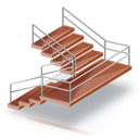 Emergency, Stairs Icon
