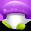 Mushroom, Purple Icon